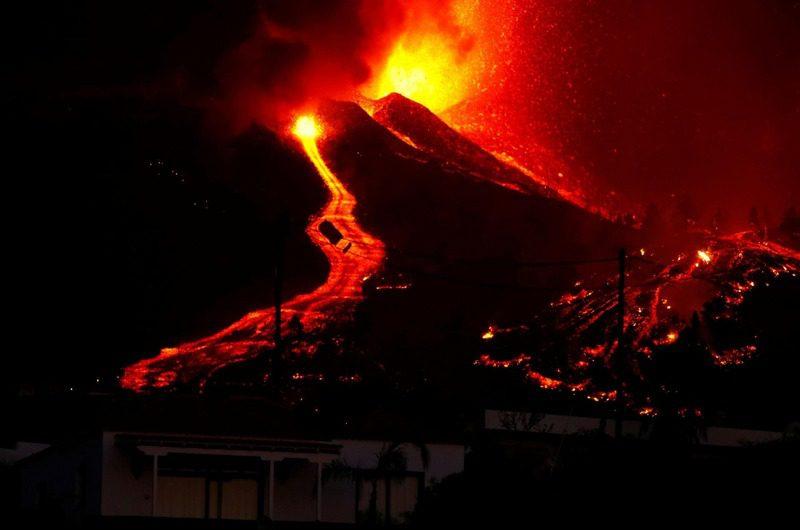 Erupción volcánica en las Palmas